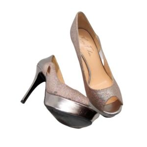 Marc Fisher Women's Metallic Tumble Platform Pumps
